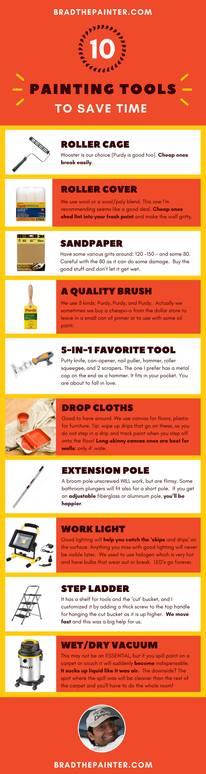 Painting Tools Infographic